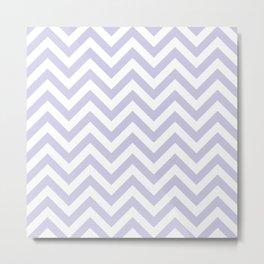 Periwinkle Purple Chevrons Pattern Metal Print