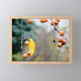Fall is over wabi-sabi Framed Mini Art Print