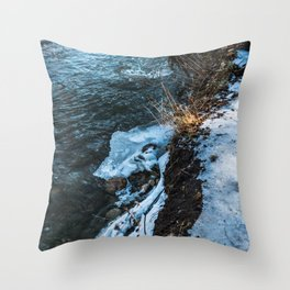 Down the cliff Throw Pillow