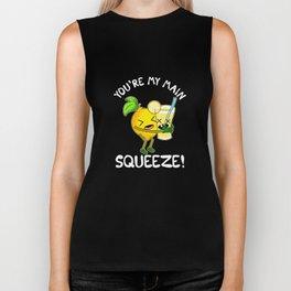 Cute You're My Main Squeeze Lemonade Pun Biker Tank
