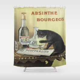 Vintage poster - Absinthe Bourgeois Shower Curtain