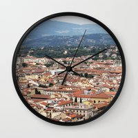 florence Wall Clocks featuring Florence by Anya Kubilus