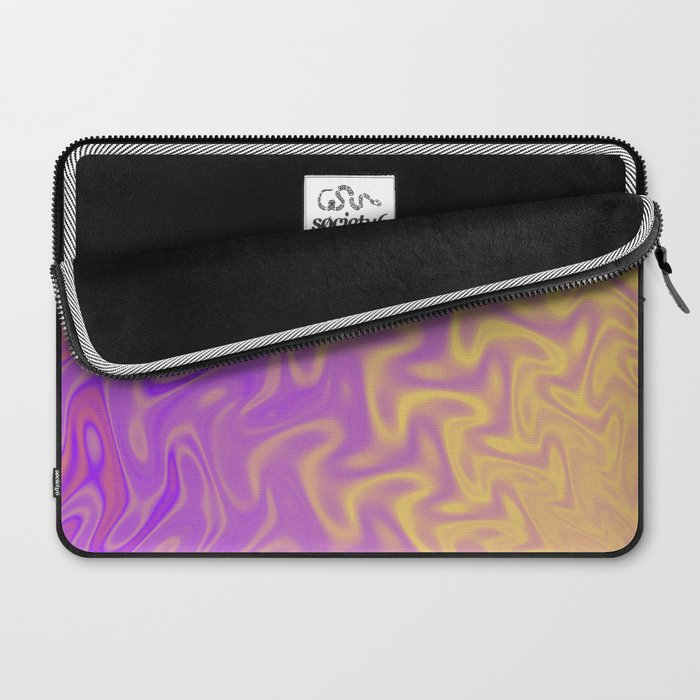 Ripples Fractal in Tropical Punch Laptop Sleeve