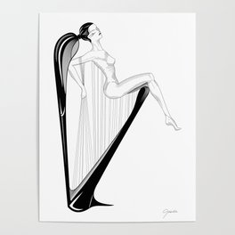 A Harp Poster