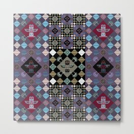 Indian patchwork 14 Metal Print