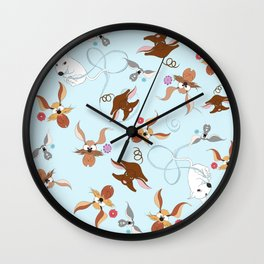 funny dogs for you Wall Clock