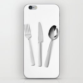 Fork, knife and spoon iPhone Skin