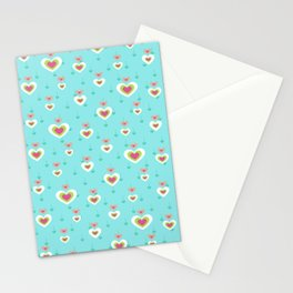 Cute Heart Pattern Stationery Cards