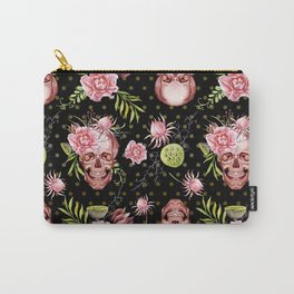 Pink Sugar Skulls Carry-All Pouch