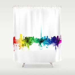 Dublin Ireland Skyline Shower Curtain