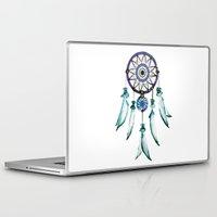 dreamcatcher Laptop & iPad Skins featuring Dreamcatcher by Monika Strigel