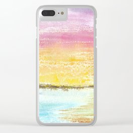 Magic Sunset Watercolor Art Clear iPhone Case
