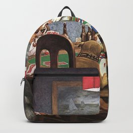 Dogs Playing Poker A Friend in Need Painting Backpack
