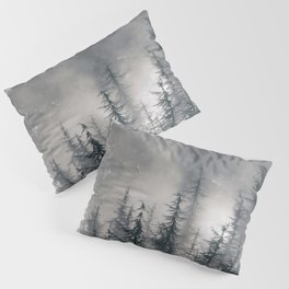 """""""Lost"""". Into the foggy mountains Pillow Sham"""