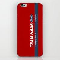 danny haas iPhone & iPod Skins featuring Haas F1 Team 1986 by Krakenspirit
