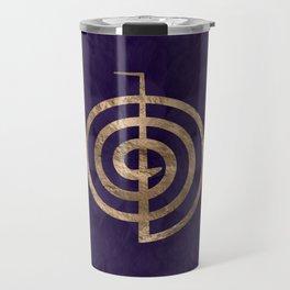 Cho Ku Rei - gold on purple lotus Travel Mug