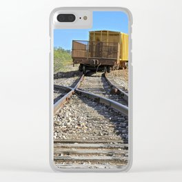 Off Tracks Clear iPhone Case