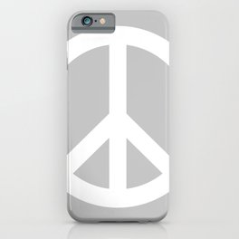 Peace (White & Gray) iPhone Case