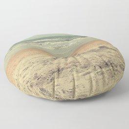 sandcastle on the shore Floor Pillow
