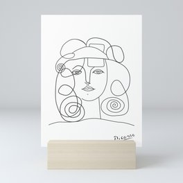 Picasso lady  Modern Sketch Picasso Art Modern  Mini Art Print