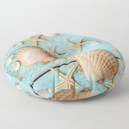 She Sells Sea Shells Floor Pillow