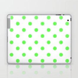 Green Polka Dots Laptop & iPad Skin