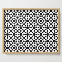 Sunshine Dots Optical Illusion Pattern Serving Tray