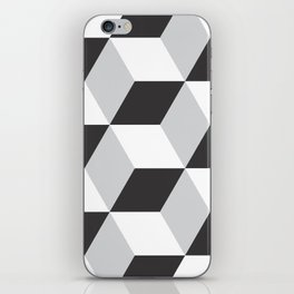 Cubism Black and White iPhone Skin