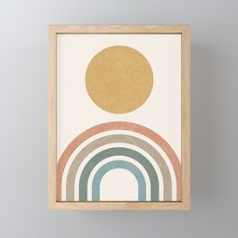 Mid-Century Modern Rainbow Framed Mini Art Print