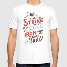 Can't Strike Cold Iron Mens Fitted Tee White MEDIUM