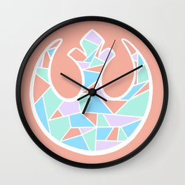 Rebel Alliance Coral Wall Clock