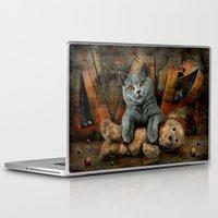 kpop Laptop & iPad Skins featuring Cat Diesel with teddybear ! by teddynash