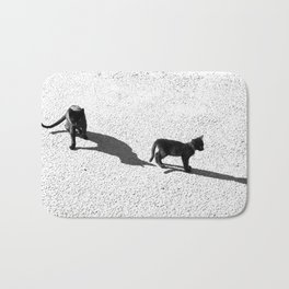 Cute cats shadows Bath Mat