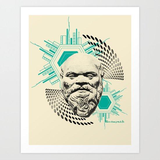 Socrates! Art Print