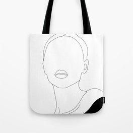 Elegant Woman Portrait Tote Bag