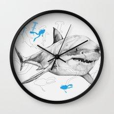'Sharks & Silhouettes' Wall Clock
