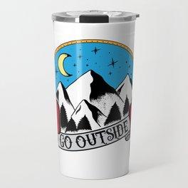Go Outside - Traditional Style Travel Mug