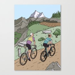Race to the top Canvas Print