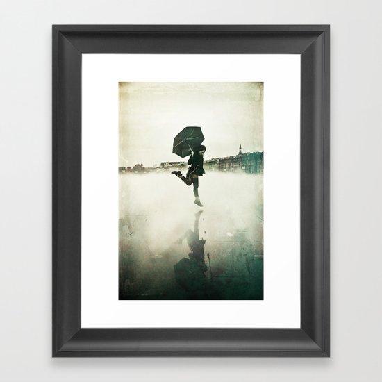 La danse de la pluie Framed Art Print