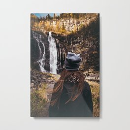 Norway || Norwegian Nature || Mountains || Norge || Landscape || Waterfall || Travel || Advent Metal Print