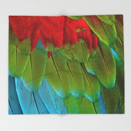 Catalina Macaw Feathers Throw Blanket