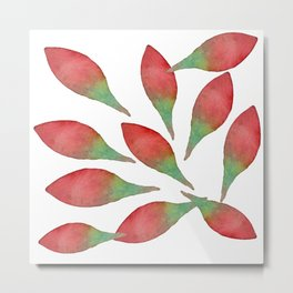 Watercolour rose petals Metal Print