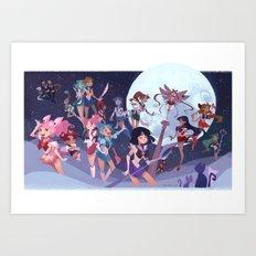 Sailor Soldiers Art Print