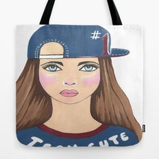 Team Cute Tote Bag