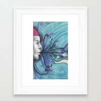 mouth Framed Art Prints featuring Mouth by Mighty Truth