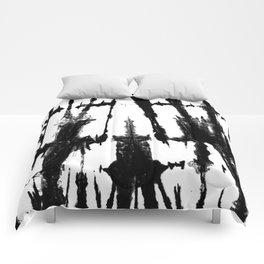 black Shibori Comforters