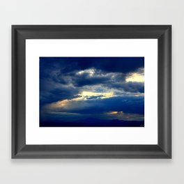 Deep Blues Framed Art Print