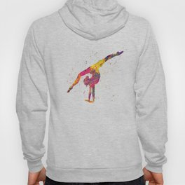 Rhythmic gymnastics competition in watercolor 04 Hoody