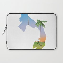 Panama map travel poster. Laptop Sleeve