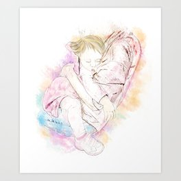 In Mama's Arms Art Print